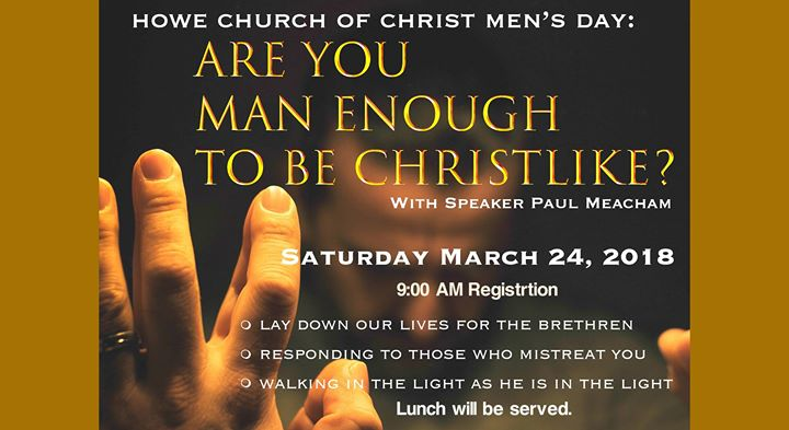 Howe Church of Christ Mens Day